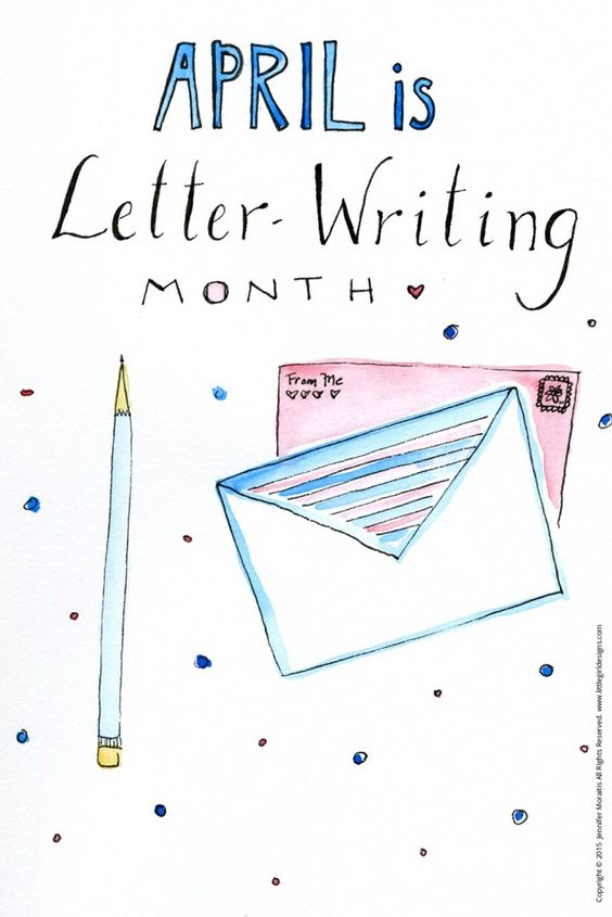 april - letter writing month