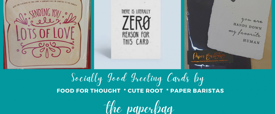 Socially Good Cards by Food for Thought Cute Root Paper Barristers